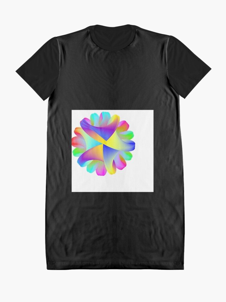 Alternate view of Coils of the Plumed Rainbow Serpent Graphic T-Shirt Dress