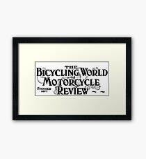 Bicycling World & Motorcycle Review 1907 Cover Art Framed Print