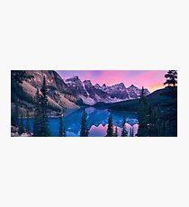 Lake Moraine Sunset Photographic Print