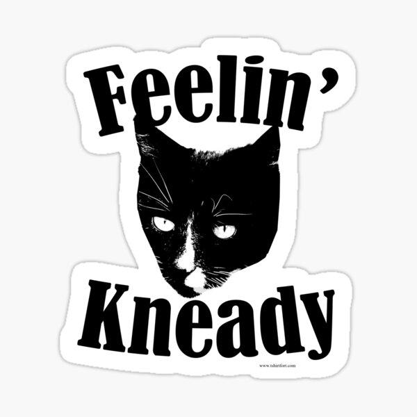 Feelin Kneady Needy Cat Sticker