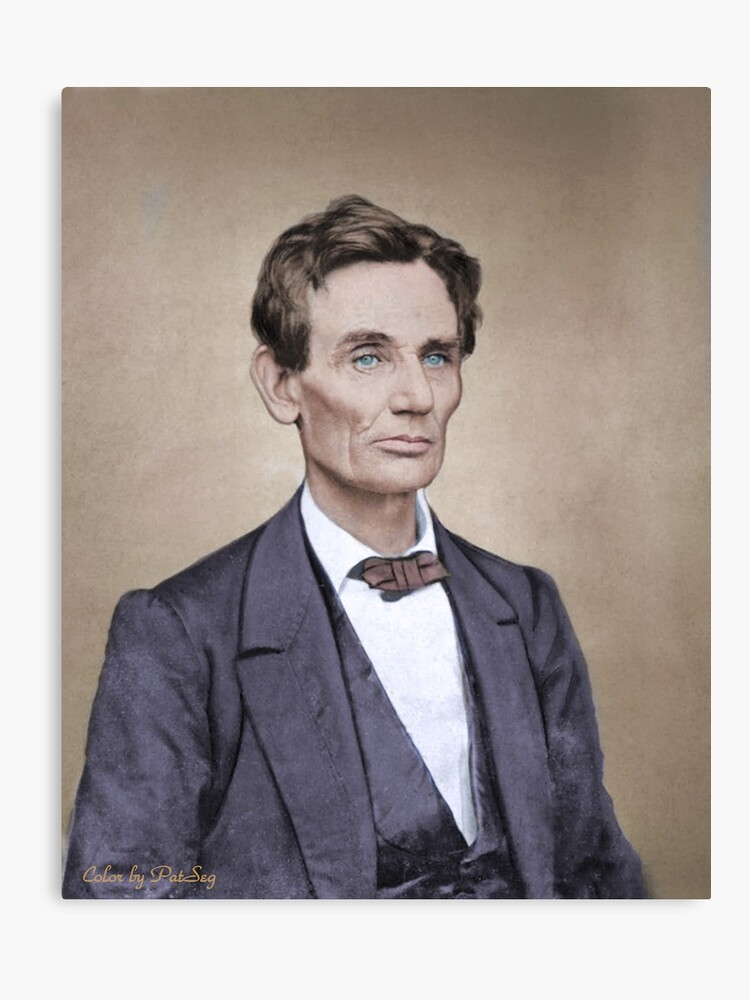 image relating to Printable Pictures of Abraham Lincoln identified as Abraham Lincoln - Shade Canvas Print