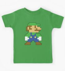Super Mario 3D World Luigi Sprite Kids Tee