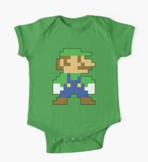 Super Mario 3D World Luigi Sprite One Piece - Short Sleeve