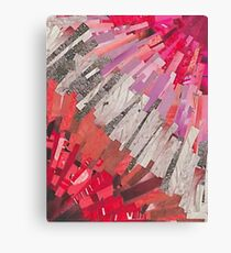 Abstract Lesbian Flag Collage Canvas Print