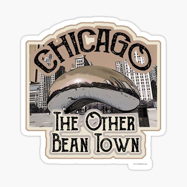 Chicago Bean Travel Design Sticker