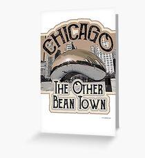 Chicago Bean Travel Design Greeting Card