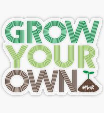 Grow Your Own Transparent Sticker