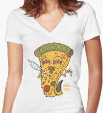 Baked Women's Fitted V-Neck T-Shirt