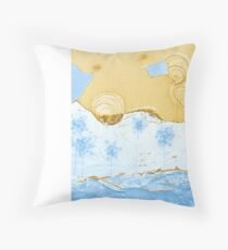 Bubble Flowers by the Puzzle Sea Throw Pillow