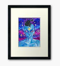 Genie - Fantasy Face Series Framed Print