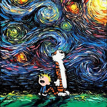 Calvin and Hobbes-Starry Night by AjEstes