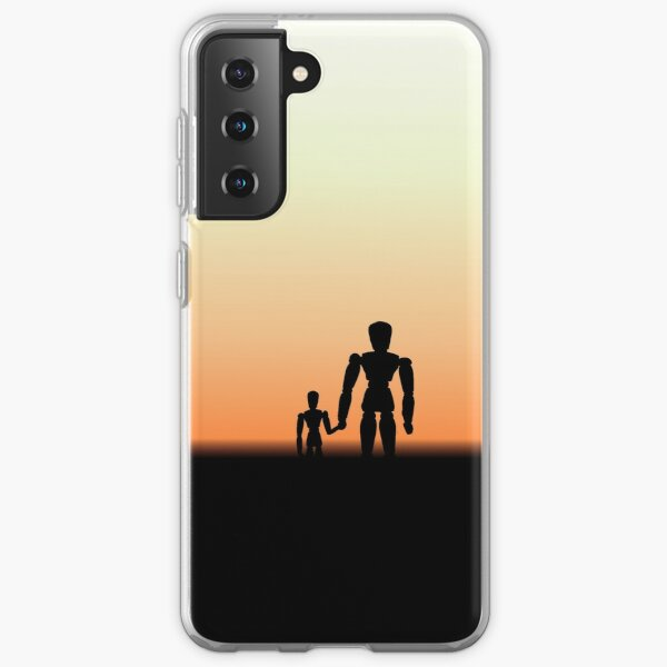 New Day - Sunset with Wooden Puppets Dolls Samsung Galaxy Soft Case
