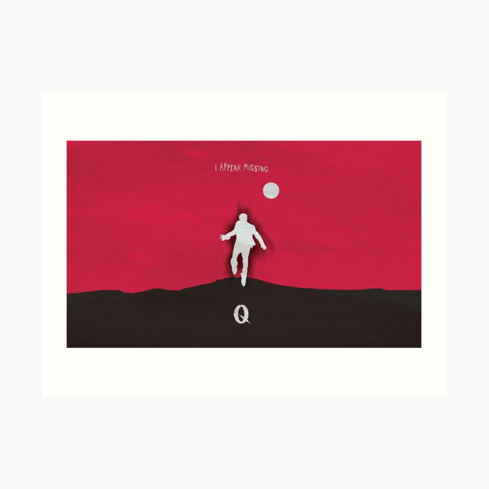 Queens of the stone age - I appear missing art (wide) Art Print