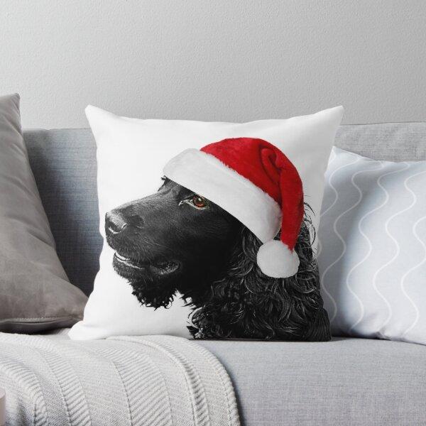 Merry Christmas Cocker  Throw Pillow