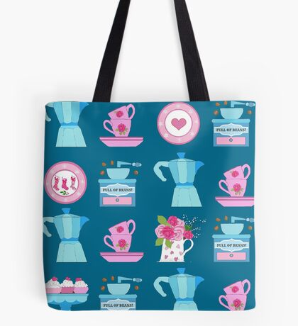 Coffee pot vintage kitchen and Christmas stocking plate Tote Bag