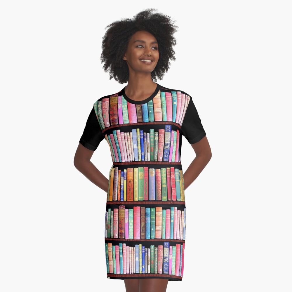 Bookworm Antique books Graphic T-Shirt Dress