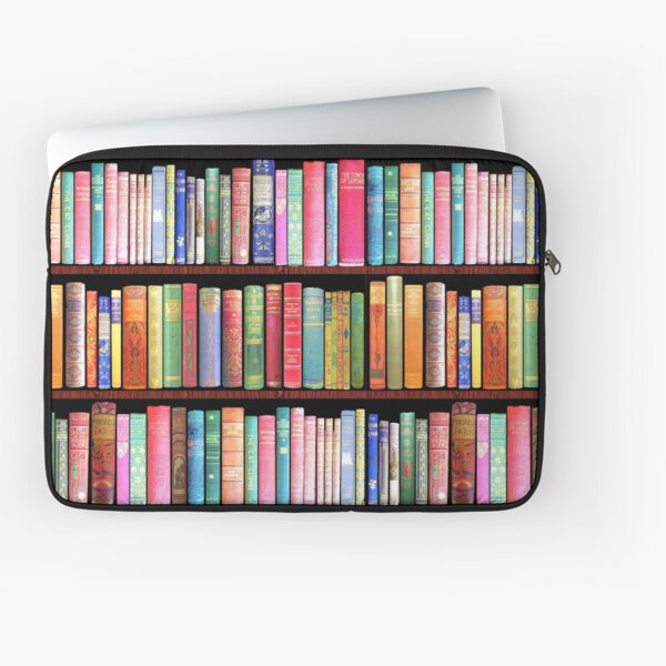 Bookworm Antique book library, vintage book shelf Laptop Sleeve