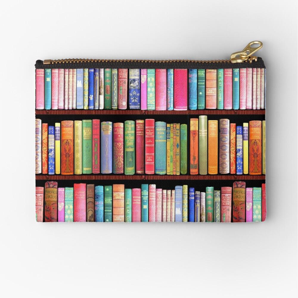 Bookworm Antique books Zipper Pouch