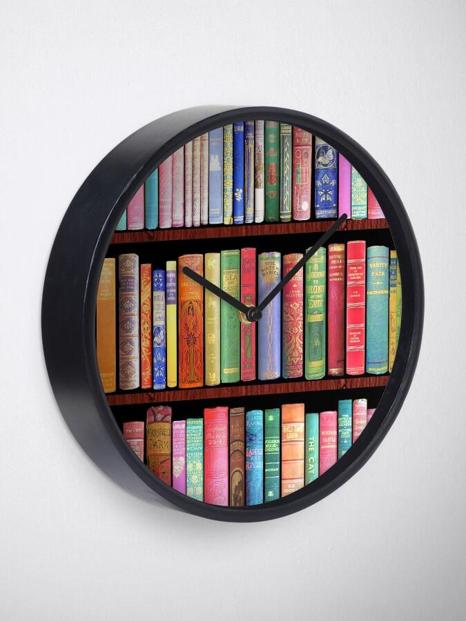 Alternate view of Bookworm Antique books Clock