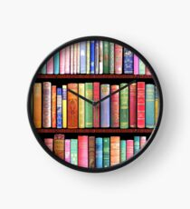 Bookworm Antique books Clock