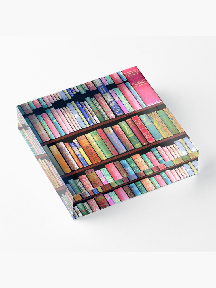 Alternate view of Bookworm Antique books Acrylic Block