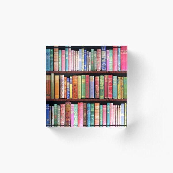 Bookworm Antique books Acrylic Block
