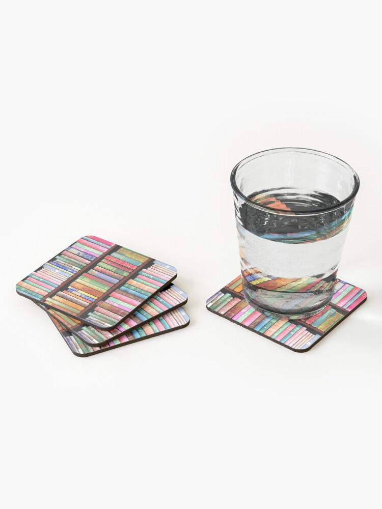 Alternate view of Bookworm Antique books Coasters (Set of 4)