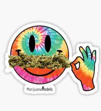 Smiley Weedstache Sticker