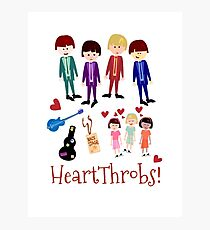 Heartthrobs Cute Retro Band Illustration Photographic Print