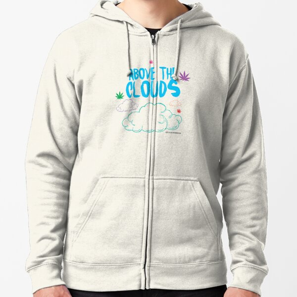 Above the Clouds Zipped Hoodie