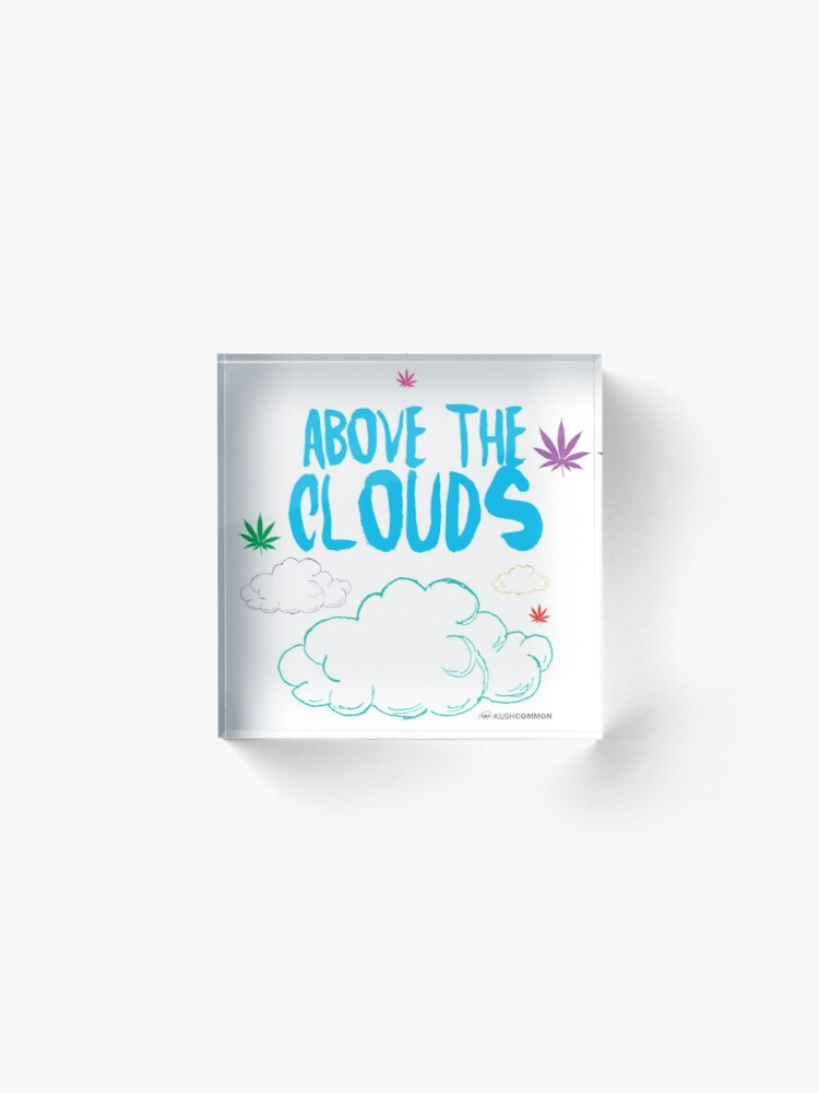 Alternate view of Above the Clouds Acrylic Block