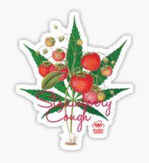 Strawberry Cough Glossy Sticker