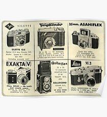 1950s Classic Camera! Retro Analogue!  Poster
