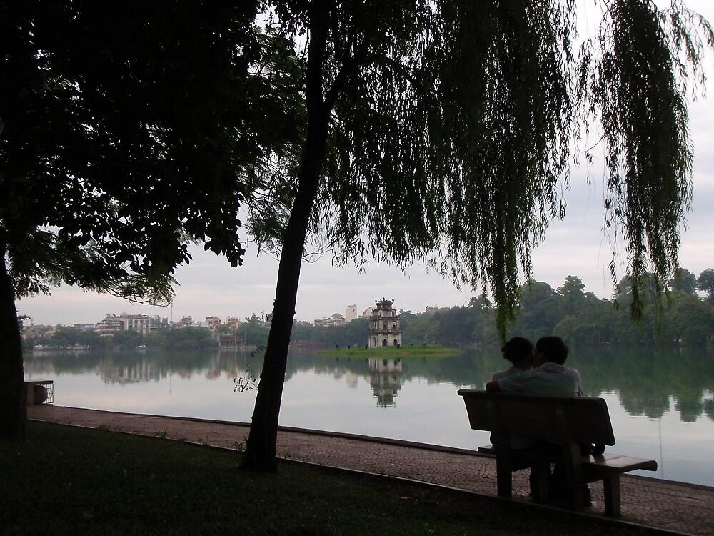 Hoan Kiem (Turtle) Lake, central Hanoi by liqwidrok