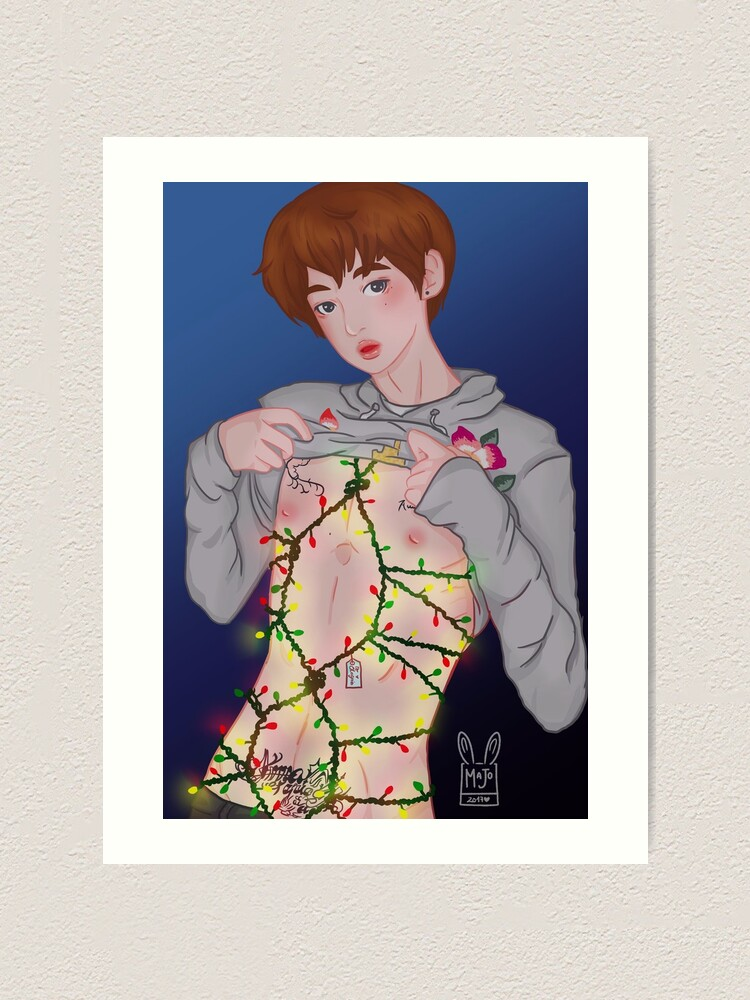sexy merry christmas art print by blaze chan redbubble redbubble