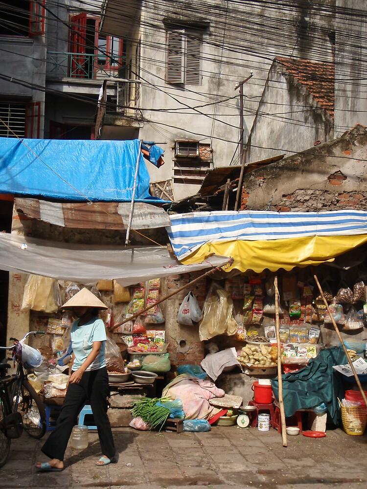 Hanoi, in the old Quarter by liqwidrok