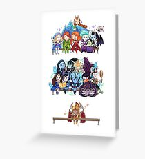 Dota 2 Heroes Greeting Card