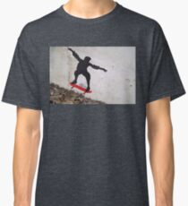Stenciled Skateboarder Classic T-Shirt