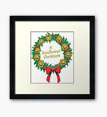 A Sunflower Christmas Framed Print