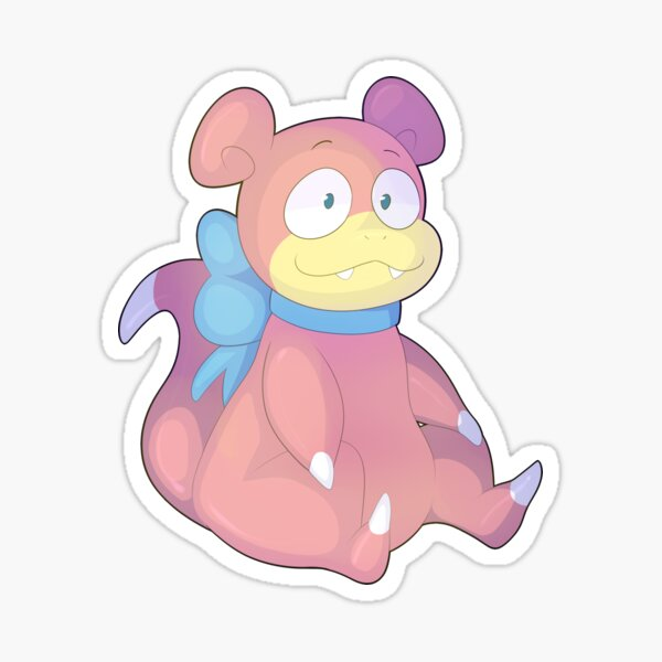 slowpoke ribbon Pegatina