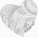 Ahimsa Starts At Home (Black & White)  by YogaLYFE