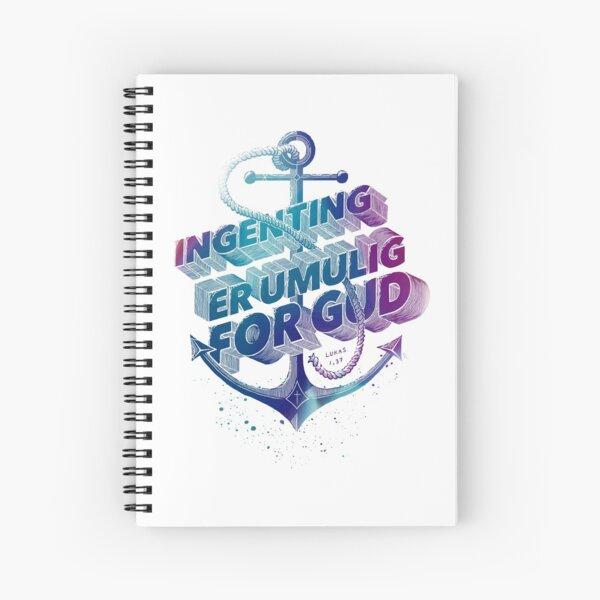 Ingenting er umulig for Gud Spiral Notebook