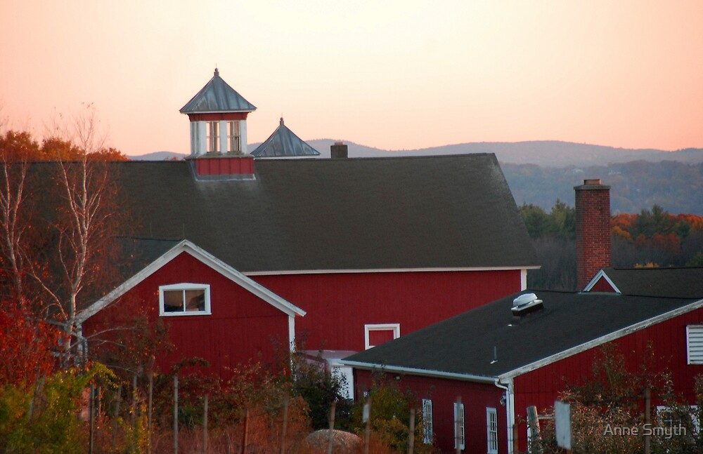 Sunset Barns by Anne Smyth
