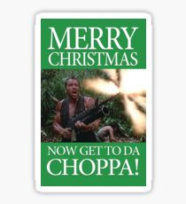 Merry Christmas - Get to the Chopper Sticker