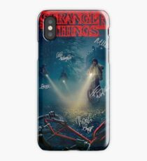 Stranger Things Autograph Signature Poster iPhone Case/Skin