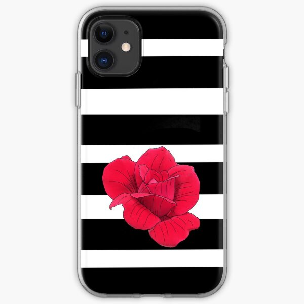 Tess of the Durberville Rose Modern Floral iPhone Soft Case