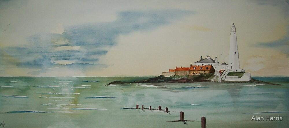 """St Marys' Lighthouse""  by Alan Harris"