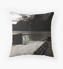 Waiting for the last ship Throw Pillow