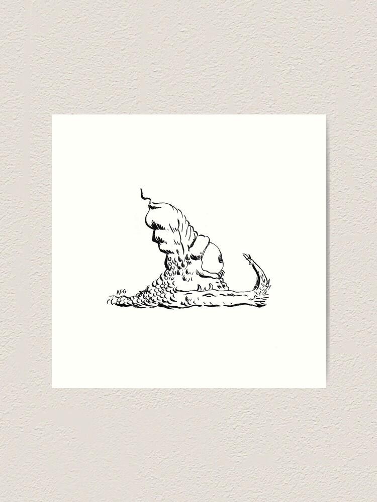 Alternate view of Slug Art Print