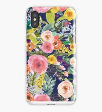 Autumn Blooms Navy Floral  iPhone Case/Skin